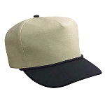 Wool Blend Low Crown Golf Style Two Tone Color Caps