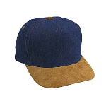 Brushed Denim Suede Visor Low Crown Golf Style Two Tone Color Cap