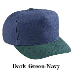 Washed Brushed Heavy Cotton Canvas Low Crown Golf Style Two Tone Color Caps
