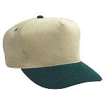 Brushed Bull Denim Low Crown Golf Style Two Tone Color Caps