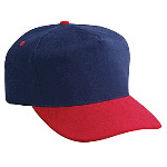 Brushed Cotton Twill Low Crown Golf Style Two Tone Color Caps