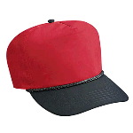 Poplin High Crown Golf Style Two Tone Color Caps