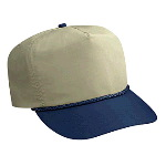 Deluxe Poplin High Crown Golf Style Two Tone Color Caps