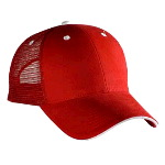 Brushed Bull Denim Sandwich Visor Low Profile Pro Style Mesh Back Caps