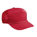 Cotton Twill High Crown Golf Style Mesh Back Caps