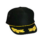 Polyester Foam Front Oak Leaves High Crown Golf Style Mesh Back Cap