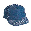 Otto Cap Denim High Crown Golf Style Mesh Back Caps Navy/White