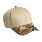 Camouflage Visor Cotton Twill Low Profile Pro Syle Two Tone Color Caps