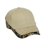 Camouflage Piping Design Brushed Cotton Twill Low Profile Pro Style Two Tone Color Caps