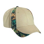 Camouflage Piping Design Cotton Twill Low Profile Pro Style Two Tone Color Caps