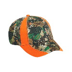 Camouflage and Hunter Orange Low Profile Cap