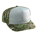 Camouflage Cotton Twill Pro Style Two Tone Color Caps