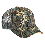 Camouflage Cotton Twill Sandwich Visor Low Profile Pro Style Mesh Back Caps