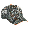 Otto Cap Camouflage Cotton Twill Sandwich Visor Low Profile Pro Style Mesh Back Caps Gray/Dark Green