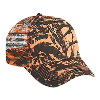Otto Cap Camouflage Cotton Twill Low Profile Pro Style Mesh Back Caps Neon Orange/Black/Dark Green