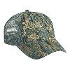 Otto Cap Camouflage Cotton Twill Low Profile Pro Style Mesh Back Caps Gray/Khaki/Dark Green