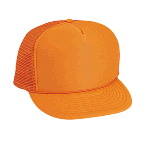 Neon Polyester Foam Front High Crown Golf Style Mesh Back Cap