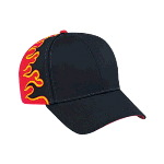 Flame Pattern Cotton Twill Low Profile Pro Style Two Tone Color Caps