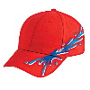 Otto Cap Ocean Splash Pattern Brushed Cotton Twill Low Profile Pro Style Caps Red