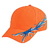 Otto Cap Ocean Splash Pattern Brushed Cotton Twill Low Profile Pro Style Caps Dark Orange