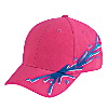 Otto Cap Ocean Splash Pattern Brushed Cotton Twill Low Profile Pro Style Caps Hot Pink