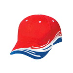 Ocean Splash Pattern Brushed Cotton Twill Low Profile Pro Style Two Tone Color Caps
