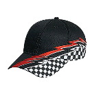 Racing Pattern Cotton Twill Low Profile Pro Style Caps