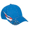 Otto Cap United States Flag Flame Pattern Brushed Cotton Twill Low Profile Pro Style Caps Royal
