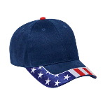 United States Flag Visor Brushed Cotton Twill Low Profile Pro Style Caps