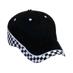 Racing Pattern Brushed Cotton Twill Low Profile Pro Style Caps