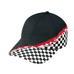 Flare Racing Pattern Cotton Twill Low Profile Pro Style Two Tone Color Caps