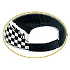 Otto Cap Flare Racing Pattern Cotton Twill Low Profile Pro Style Two Tone Color Caps