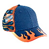 Otto Cap Flame Pattern Cotton Twill Low Profile Pro Style Mesh Back Two Tone Color Caps Navy/Combination