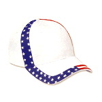 United States Flag Design Cotton Twill Low Profile Pro Style Caps