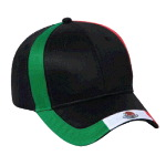 Mexico Flag Design Cotton Twill Low Profile Pro Style Caps