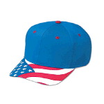 United States Flag Visor Cotton Twill Pro Style Caps