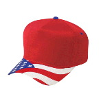United States Flag Visor Cotton Twill Low Crown Golf Style Caps
