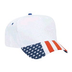 United States Flag Visor Cotton Twill Low Crown Golf Style Cap