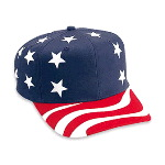 United States Flag Pattern Cotton Twill Pro Style Cap