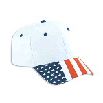 United States Flag Visor Cotton Twill Pro Style Cap