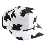 Cow Pattern Cotton Twill Pro Style Cap