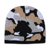 "Otto Cap Camouflage Design Acrylic Knit 8"" Beanie Black/Gray/White"