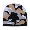 "Otto Cap Camouflage Design Acrylic Knit 8"" Beanie Black/Gray/White"