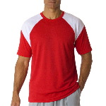 Adult Cool-N-Dry� Sport Color Block Tee