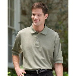Short Sleeve Double Knit Pique Polo