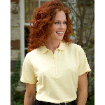 Ladies Short Sleeve Double Knit Pique Polo
