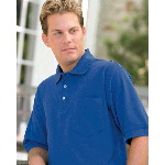 Short Sleeve Double Knit Pique Polo with Pocket