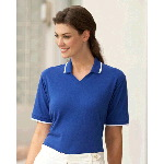 Ladies Short Sleeve Jenny Collar Pique Polo