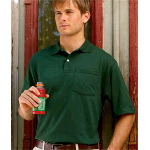 Adult Jersey Pocket Polo with SpotShield�