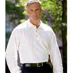 Adult Ultra Cotton� Long-Sleeve Pique Polo